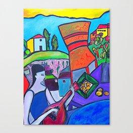 At The Villa  http://www.ebbio.com/index.htm (ORIGINAL SOLD) #society6 #decor #buyart Canvas Print