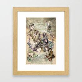 The Verdant Heath From Satyriasis Graphic Novel Part 1 Framed Art Print