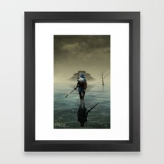 The hardest battle lies within (NEW Version) Framed Art Print