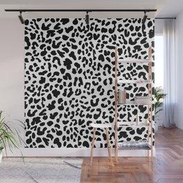 Black & White Leopard Skin Wall Mural