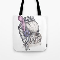 shih tzu Tote Bags featuring 18th Century Shih-Tzu by Michelle J Poston