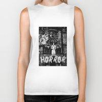 horror Biker Tanks featuring Horror by alexflasher