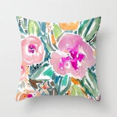 Hibiscus Jungle Throw Pillow
