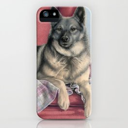 Portrait Of A Elkhound iPhone Case