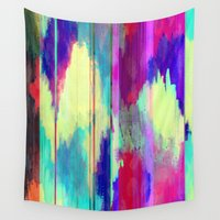 glitch Wall Tapestries featuring Glitch by James McKenzie