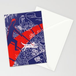 Walking Through The Park Stationery Cards