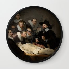 The Anatomy Lesson Of Dr. Nicolaes Tulp by Rembrandt Wall Clock