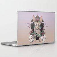 sphynx Laptop & iPad Skins featuring Sphynx by AlchemyArt