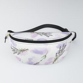 Watercolour Lavender - repeat floral pattern Fanny Pack