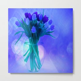 A Blue Bloom for Spring Metal Print