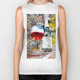 Wine Art Biker Tank