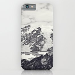 Mount Rainier B&W iPhone Case
