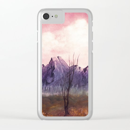 Over The Mountains II Clear iPhone Case