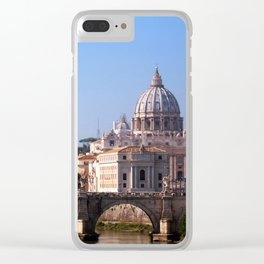 Panorama of Rome and Vatican Clear iPhone Case