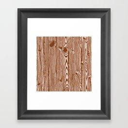 c13D Woodgrain Framed Art Print