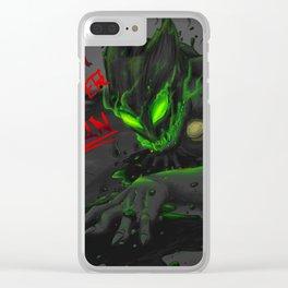 You Better Run - Monster Chat Noir Clear iPhone Case
