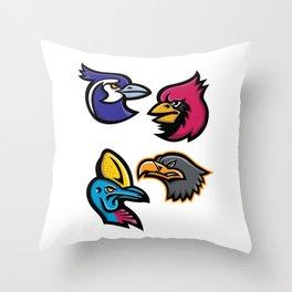 Bird Wildlife Mascot Collection Throw Pillow