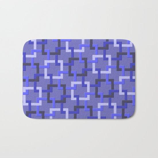 Linked Squares Bath Mat