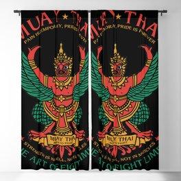 Muay Thai Sak Yant Garuda Blackout Curtain