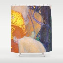 """Gustav Klimt """"Goldfische"""" (1) Shower Curtain"""