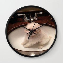 Sink Baby Wall Clock