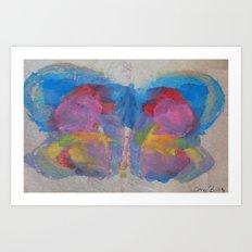 Pastel Ice Cream Butterfly Art Print
