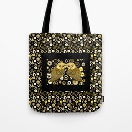 Cogs and Owls Tote Bag