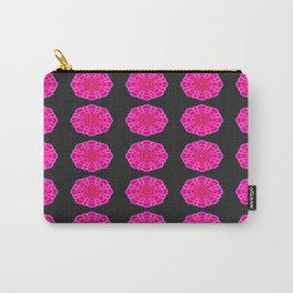 Hot Magenta Lotus Flower Pattern Carry-All Pouch