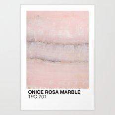 ONICE ROSA MARBLE TPC-701 Art Print
