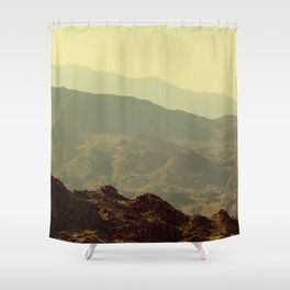 Palm Springs Mountains I Shower Curtain