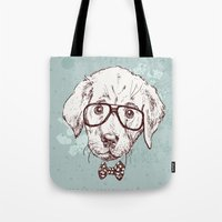 puppy Tote Bags featuring Puppy by Iriskana