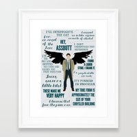 castiel Framed Art Prints featuring Castiel by Dorothy Leigh