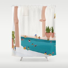 Alcove pool Shower Curtain