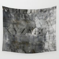 alphabet Wall Tapestries featuring Alphabet by cafelab