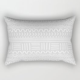 Mud Cloth on Light Gray Rectangular Pillow