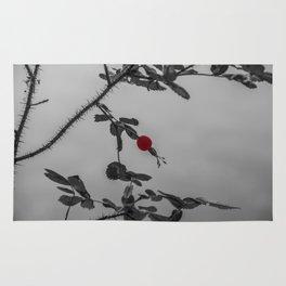 Red Roses #1 - Rosehip in Jasper, Alberta Rug