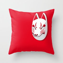 Japan Serie 3 - KITSUNE Throw Pillow