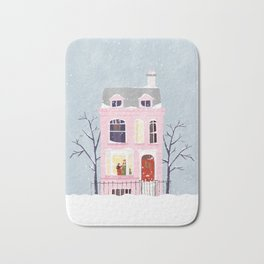 Xmas house Bath Mat