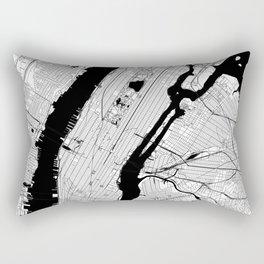 New York City Black and White Map Rectangular Pillow