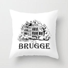 Brugge Belgium artwork Throw Pillow