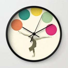 Gymnastics II Wall Clock