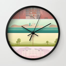 A Wes Anderson Collection Wall Clock