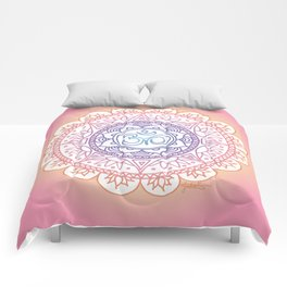 Peaceful Ohm Mandala Comforters