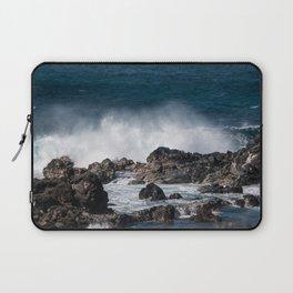 Lava Rock Ocean Spray Laptop Sleeve