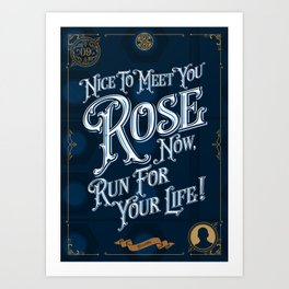 09 - Doctor Who Christopher Eccleston Art Print