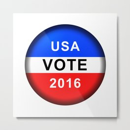 Vote Button 2016 Metal Print