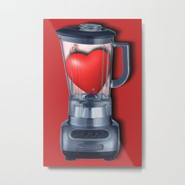 Heart Series Love Blenders Love Valentine Anniversary Birthday Romance Sexy Red Hearts Metal Print