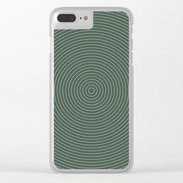 Roda - Circles Clear iPhone Case