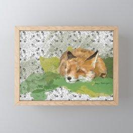Sleepy Fox Framed Mini Art Print