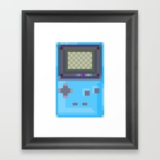 Pixel Gameboy Framed Art Print